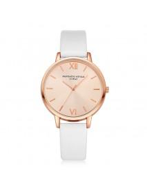Casual Style PU Leather Strap Cloc kLadies Wrist Watch Quartz Watch