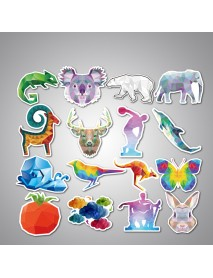 35Pcs Animal Car Stickers Mixed Funny Cartoon For Luggage Laptop Computers Bicycles Decor