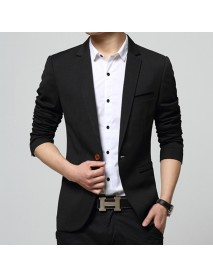 Men's Korean Solid Youth Slim Jacket Small Casual Suits