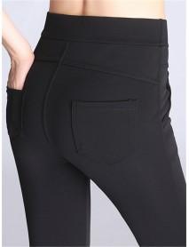 Plus Size High Waist Stretch Pencil Pants