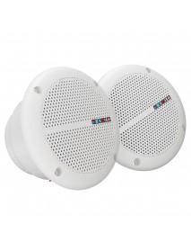 1 Pair Waterproof Marine Boat Ceiling Speakers Kitchen Bathroom Water Resistant