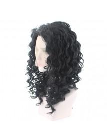 African Black Wavy Black Roll Wig