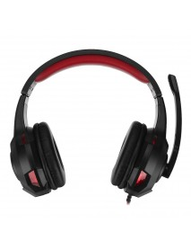 Bakeey LED Light Computer Gaming Wired Headset Stereo 360 Surround Sound Headphone with Microphone