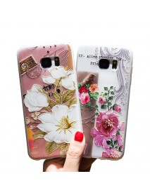 Bakeey 3D Relief Printing Flower & Birds Soft Protective Case for Samsung Galaxy S7 Edge
