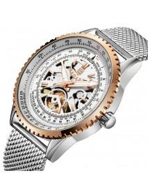 BAGARI 1680 Milan Steel Strap Quartz Watches Business Style Men Wrist Watch