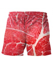 3D Meat Printing Summer Casual Holiday Beach Board Shorts for Men