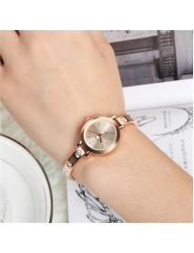 Fashion Women Wrist Watch Metal Crystal Simple Dial Ladies Dress Quartz Watch