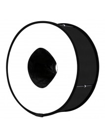 PULUZ PU5145 45cm Ring Softbox Speedlight Round Style Flash Light Foldable Soft Flash Light Diffuser