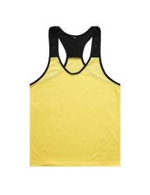 Men's Bodybuilding Muscle Fitness Training Sports Tank Top Casual  Splice Color Vest