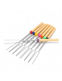 8 Pieces 32-Inch Colorful Telescopic Roasting Marshmallow Barbecue Skewers BBQ Stick Fork BBQ Tools