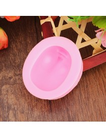 3D Baby Head Silicone Mould Girl Face Fondant Cake Mold Trick Tool Creative Baking Accesseries