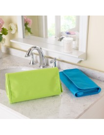 Portable Wash Cosmetic Bag Compact Makeup Storage Bag Case Bathroom Mesh Organizer