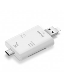 3 in 1 Multifunction Card Reader Type-c USB Mirco USB Port with OTG TF SD for Mac Android Phone