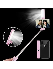 Bakeey Bluetooth Selfie Stick Monopod with Led Flash Fill Light back-lighting for Mobile Phone