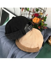 Avene Style Casual Street Retro Hip Hop Innocent Landlord Hat Vintage Innocent Metal Standard Sailor Brimless Hats