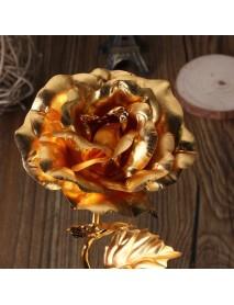 24k Gold Foil Plated Rose Gold Leaf Rose Wedding Supplies Valentine 's Day
