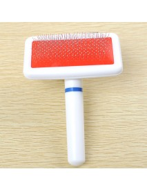 Dog Brush Pet Dog Comb Long Hair Brush Plastic Handle Puppy Cat Dog Bath Brush Multifunction Comb