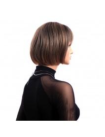 12 Inch Short Straight KANEKALON Full Wig Elegant Bobo Synthetic Wigs Net