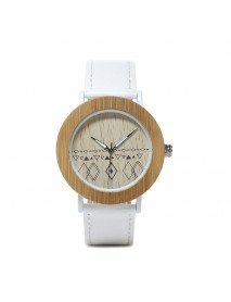 BOBO BIRD E24*W Unique Design Quartz Watches Leather Strap Wood Women Wrist Watch