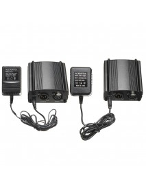 1 CH DC 48V Phantom Power Supply with Adapter For Condenser Microphone MIC