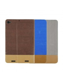 Book Design Stripe Folio PU Leather Case Cover For Xiaomi Mipad 2