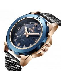 BARAGI 1689 Calendar Business Men Wrist Watch Full Steel Luminous Display Quartz Watches