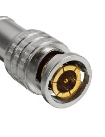 BNC Male Connector for RG-59 Coaxical Brass End Crimp Screwing Camera Free Welding US Version