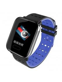 Bakeey A6 Sleep HR Blood Pressure Oxygen Monitor IP67 Waterproof Camera Smart Watch