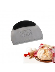 Stainless Steel Kitchen Dough Scraper Chopper Pastry Cutter with Measuring Scale Bakeware Tool