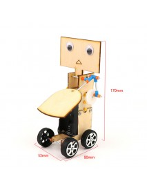 DIY Educational Electric Walking Swing Fan Robot Scientific Invention Toys