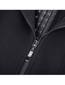 Plus Size Waist Belt Neoprene Rubber Zippered Three-breasted Chest Corset Body Shaper Tops