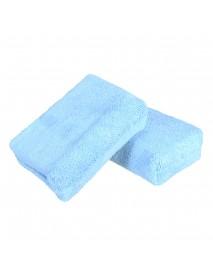 8Pcs Blue Microfiber Cleaning Foam Sponge Applicators Car Wash Waxing Polish