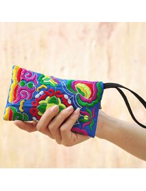 National Style Fashion Embroidery Bag Purse Clutch Bag For Women