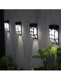 Outdoor Solar Garden Light LED Path Wall Landscape Mount Light Fence Lantern Street Lamp