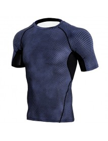JACK CORDEE Men's Sports Running Fast Dry T-shirts Elastic Tight Fitting Training Breathable Tops