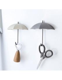 3Pcs Creative Umbrella Wall Hooks Pothook For Keys Hairpin Holder Organizer Decorative Organizer Home Decoration