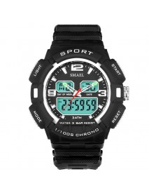 SMAEL 1378  Fashionable Electronics Display Sport Watch Digital and Analog Dual Diaplay Men Watch