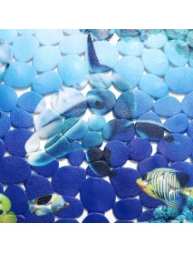 35x70cm Dolphin Underwater World Bathroom Bath Shower Non Slip Rug Door Floor Mat Carpet Pad Home Decoration