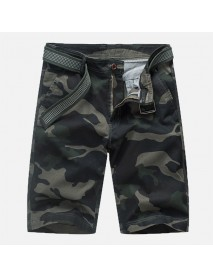 Men Camouflage Multi Pockets Military Outdoor Relaxed Tooling Shorts