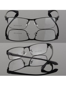 Fashionable Light Slim Eye Glasses Frame Metal Full Rim Frame Rx Prescription Lens for Men and Women