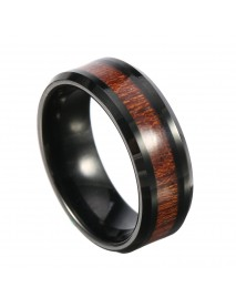 8mm Classic Men's Wood Tungsten Ring Tungsten Carbide Colorfast Anallergic Engagement Rings for Men
