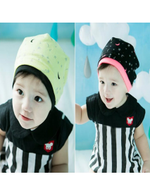 Baby Children Moon Stars Printing Knit Caps Beanies Hat