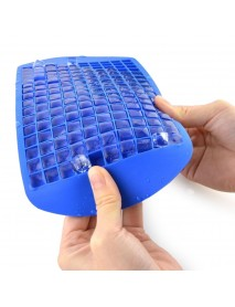 2Pcs 160 Grid Square Ice Tray Silicone Stackable Mold Set for Home Kitchen Tool
