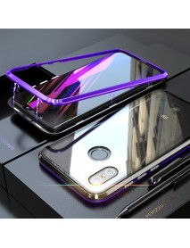 Bakeey 360 Magnetic Adsorption Metal Glass Upgraded Version Protective Case for Xiaomi Mi8 Mi 8