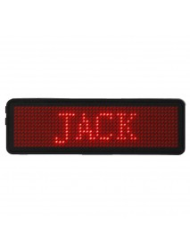 12 x 48 Pixels Programmable LED Digital Scrolling Message Name Tag ID Badge Holder Board