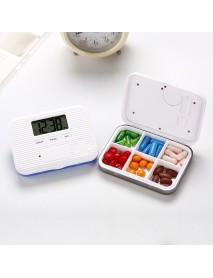 LCD Digital Timer Pill Box 5 Alarms Electric Clock Reminder Pill Case