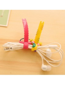 2Pcs Storage Wrap Cable Wire Tidy USB Earphone Winder Sawtooth Organizer Office School Holder