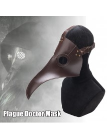 Halloween Plague Doctor Bird Steampunk Mask Long Nose Beak Cosplay Costume Props