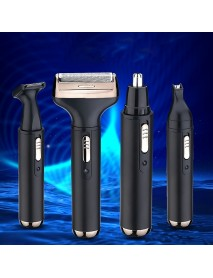4 in 1 Reciprocating Electric Shaver USB Rechargeable Razor Beard Eyebrow Nose Hair Trimmer