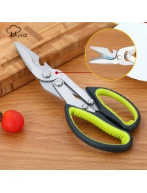 Multi-function Stainless Steel Kitchen Scissor Vegetable Meat Fish for Outdoor BBQ Food Grade
